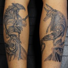 Horus and Anubis #inksidetattoos #tattoo #tattoos #tat #ink #inked #tattooed…