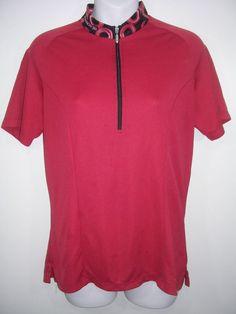 Sugoi Womens M Red Short-Sleeve Bike Cycling Jersey Shirt 015cf51be