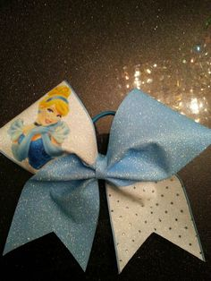 Disney Princess Cinderella Cheer Bow by GlamourBowsByAnna on Etsy