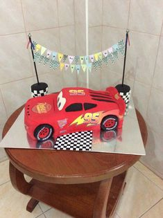 My sons Lightning McQueen birthday cake