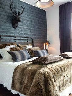 Faux #fur throw blankets even work for masculine-inspired home #decor styles