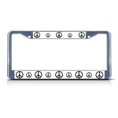 License Plate Frame Mall - PEACE SIGN  Chrome Heavy Duty Metal License Plate Frame, $17.99 (http://licenseplateframemall.com/peace-sign-chrome-heavy-duty-metal-license-plate-frame/)