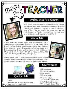 Teacher Welcome Letters, Letter To Teacher, Letter To Parents, Beginning Of Kindergarten, First Year Teaching, Student Teaching, Teacher Helper, School Teacher, Teacher Introduction Letter