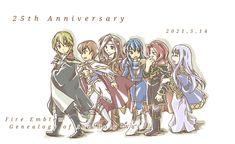 Fire Emblem 4, 25th Anniversary, Genealogy, Princess Zelda, Fan Art, Fictional Characters, Fantasy Characters