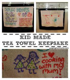 Kid Made Tea Towel Keepsake - Perfect gift for Mother's Day!