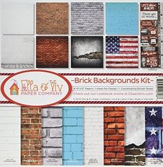 Reminisce EAV796 Brick Backgrounds Collection Kit * More info could be found at the image url.Note:It is affiliate link to Amazon. #ScrapBooking