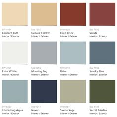 Sherwin-Williams & Pottery Barn Seasonal Color Palette Fall/Winter 2013
