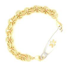 Golden Trend Medical ID Bracelet