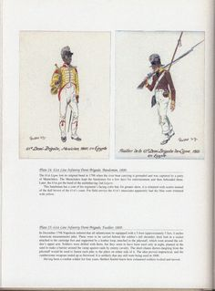 Army of Egypt: Plate 24: 61st Line Infantry Demi-Brigade, Bandsman, 1800. + Plate 25: 61st Line Infantry Demi-Brigade, Fusilier. 1800.
