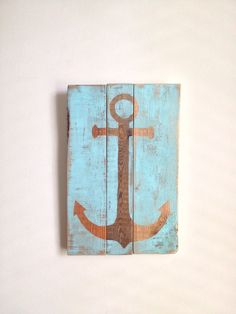 Anchor -  Beach House Decor on reclaimed wood  on Etsy, $55.00