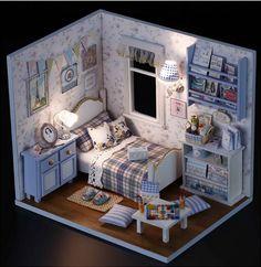 houten poppenhuis miniaturen 1:12 meubilair kit door barvazon10