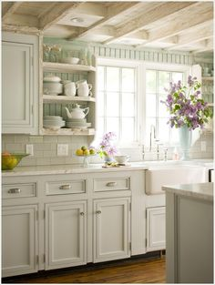 A Serene Kitchen with White and Mint Combo