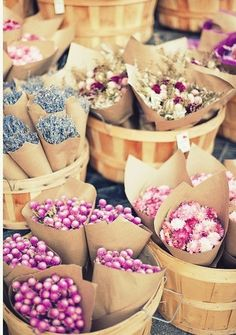 There is nothing as adorable as a little flower posy - these are scrumptious!  And, I love the brown paper wrapping too.