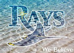 Lets Go Rays! #TampaBayRays #florida #webelieve #beach #tampa