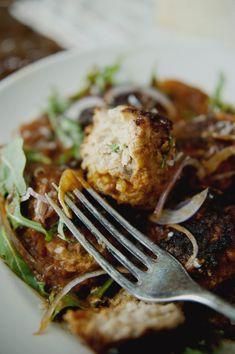 Spicy Chicken Meatballs with Sugo all'Arrabiata