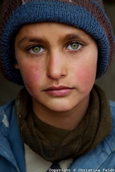 """Pashtun refugee boy in Kabul"". This photo shows a young Pashtun boy in a refugee camp in Kabul, Afghanistan. What a handsome boy with such beautiful eyes! (Photo by Christina Feldt for the National Geographic). Eye Photography, People Photography, Children Photography, Beautiful Eyes, Beautiful People, National Geographic Photo Contest, National Geographic Photography, National Geographic People, Interesting Faces"