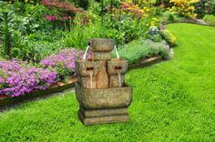 """25"""" Two Tier Fountain with LED Lights from Alpine"""
