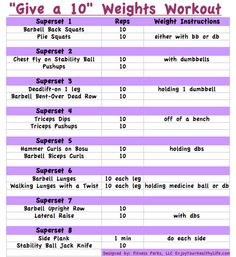 Give a 10: weights workout @FitnessPerks #fitfluential