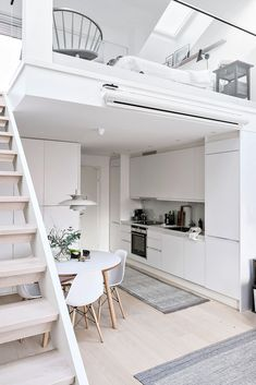 35 Wonderful Small Loft Ideas May Help You loft, apartment deign, small loft ide. 35 Wonderful Small Loft Ideas May Help You loft, apartment deign, small loft ideas Loft Design, Tiny House Design, Design Case, Gym Design, Swedish Interiors, Loft Interiors, Scandinavian Interior, Small Apartments, Small Spaces