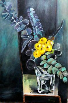 Pintura a acrílico sobre tela inspirada num dos trabalhos de Adam Pyett (Julho/2018)(*) Flower Art, Art Flowers, Magnolia Flower, Step By Step Painting, Still Life Art, Arte Floral, Pretty Art, Trees To Plant, Art Images