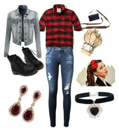 """""""The outsiders two-bit"""" by iheartanime74 on Polyvore featuring Hollister Co., LE3NO, Effy Jewelry, AG Adriano Goldschmied and Rock 'N Rose"""