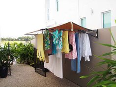 Outside Laundry Room, Laundry Area, Indian Home Interior, Laundry Room Organization, Clothes Line, Better Life, Decoration, Wardrobe Rack, Home And Garden