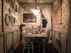 Welcome to Valentine's Day evening in the Farmhouse dining room... This years Valentine's Day photo sh...