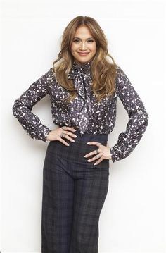 J lo in mixed prints, January 2013