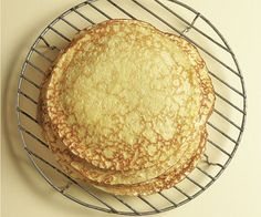 Brown-Butter Crêpes _ These crêpes are buttery but mild, an ideal blank canvas, ready to be topped or filled with savory or sweet ingredients. The addition of brown butter gives them a flavor richer than that of the average crêpe.