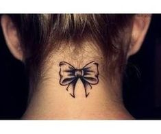 Yet another neck bow tattoo. Love 'em. <3