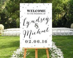 Hochzeit-Willkommens-Schild Rosegold druckbare von P27Creative