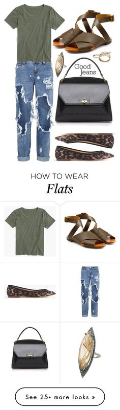 """Ripped Jeans"" by cherieaustin on Polyvore featuring One Teaspoon, J.Crew, Chloé, women's clothing, women, female, woman, misses and juniors"