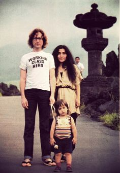 John, Yoko, and Sean on Vacation