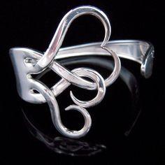 Silverware Jewelry  Fork Bracelet in Original by MarchelloArt, $29.99
