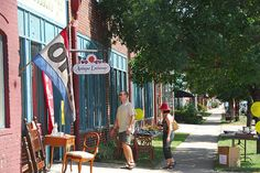 Broadway st. in Denver, CO - lots of cute little shops and boutiques, (Ironwood is on Broadway and Ellsworth Ave.)