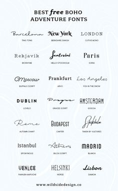 I& put together a list of my favorite, boho and adventure styled fonts tha. - - I& put together a list of my favorite, boho and adventure styled fonts that are fo& free. Whether it& a dreamy script or edgy block lettering… Adventure Fonts, Adventure Style, Adventure Tattoo, Block Lettering, Hand Lettering, Calligraphy Tattoo Fonts, Block Letter Fonts, Lettering Ideas, Cool Letter Fonts