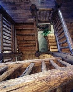 ( Teton Heritage Builders )   Log Staircase