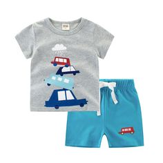 Summer Baby Boy Clothes Sets Kids 2 Colors Short Sleeves T-Shirt + Pants Toddler Suits Shorts Children Clothing Set Vestido Boys Summer Outfits, Baby Boy Outfits, Kids Outfits, Baby Boy T Shirt, Baby Girl Pants, Baby Boys, Baby Boy Fashion, Kids Fashion, Fashion Outfits