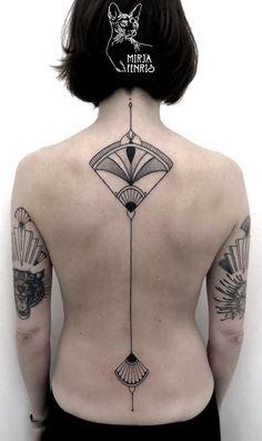Mirja Fenris Tattoo - Mirja Fenris Tattoo You are in the right place about Mirja Fenris Tattoo Tattoo Design And Style Gal - Art Nouveau Tattoo, Life Tattoos, Body Art Tattoos, New Tattoos, Tatoos, Tattoo Art, Blackout Tattoo, Creative Tattoos, Unique Tattoos