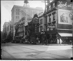 Yonge Street predates confederation by of a century. Here are some great Vintage Yonge Street pics from that show the changes. Toronto Ontario Canada, Toronto City, Old Pictures, Old Photos, Hidden Art, Canadian Things, Yonge Street, Historical Architecture, City Photo