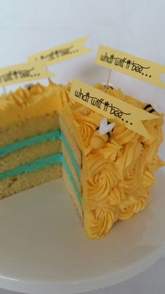 What will it bee...Perfect gender reveal cake.