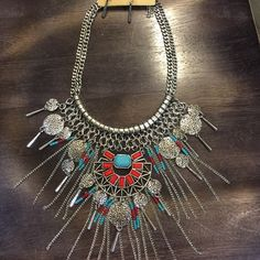 """Statement Necklace Brand new , Never worn, Statement Necklace , length Approx 18"""" + 3"""" extension . Comes with matching earrings , No trade.  Lead and nickel free. Accessories"""