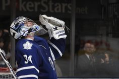 James Reimer and Dion Phaneuf have taken a beating in the press as the Leafs' have come close to elimination. Toronto Maple Leafs, James Reimer, Believe, Goalie Mask, Toronto Star, Hockey Teams, Nhl, Adidas Jacket, Take That