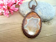 Agate *Star* Necklace - Organic Balance - Six Pointed Star