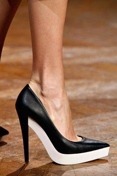 Stella McCartney Fall 2012 #black and #white #stilettos