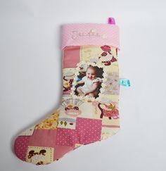 Christmas Gift Personalised Xmas Stocking by HandmadebyLigia on Etsy