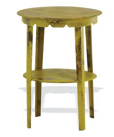 Another great find on #zulily! Curry Scallop Accent Table #zulilyfinds-similar to ones Im doing