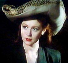 Moira Shearer in The Red Shoes,1948 #favorite  That is one big stylish hat. In another shot, its trim makes a latticed shadow on Anton Walbrook's face.