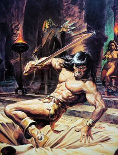 4/19/14  5:57a  Conan the Barbarian:  Warrior of Cimmerian    Sand Pit Trap by Artist: Earl Norem