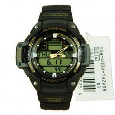 Available in Just @ $94.35 Browse Casio G-Shock watches for men & women at Direct bargains leading  online shopping store in Australia, Buy Casio Outgear Twin Sensor Sports Watch Model - SGW-400H-1B2 with best deals, offer, Your shaving $49.55. Shipping $8.00